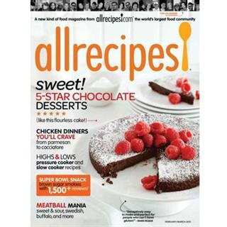Allrecipes Magazine Four Year Subscription