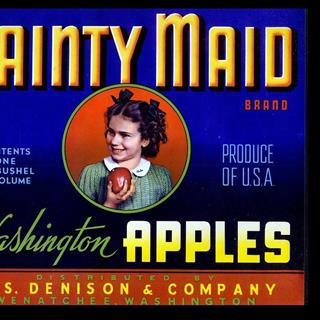 Dainty Maid Apple Crate Label, Wenatchee, Washington