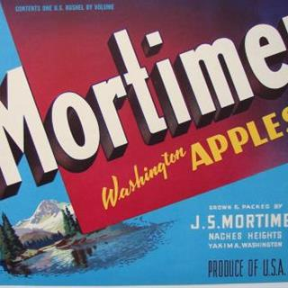 Mortimer Washington Apples Label  Vintage