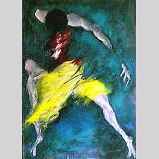 """Flamenco Dancer"" Gilcee on Canvas Figurative Painting"