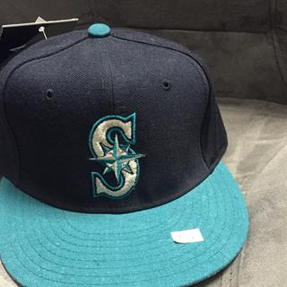 New Era Two Tone Mariners Flat Bill Hat, Size 7 1/2