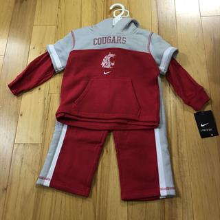 2-Piece Toddler Nike WSU Cougars Sweatshirt and Sweatpants - Size 3T