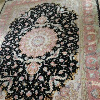 Pink and Black Persian Carpet
