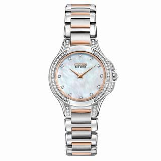Citizen Women's Eco-Drive Signature Fiore Diamond (1/2 ct. t.w.) Two Tone 500-50