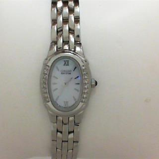 Citizen Ladies Watch Silhouette Diamond Stainless Steel Mother of Pearl #500-5