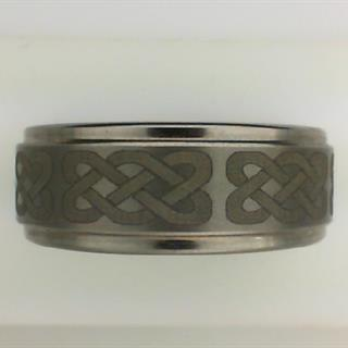 Men's 8mm Tungsten Band with Etched Celtic Design #550-39