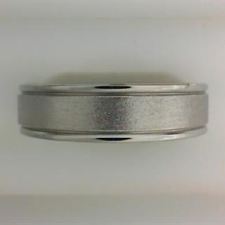 Men's 6mm Cobalt Chrome Band with Stone Finish #550-108