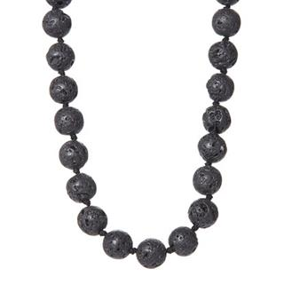 Black Lava Stone Aromatherapy Necklace