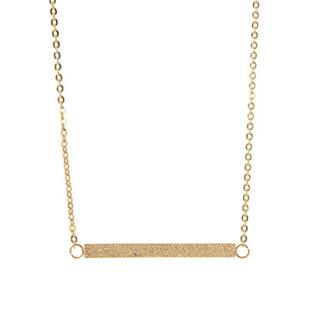 Sparkly Gold Bar Necklace
