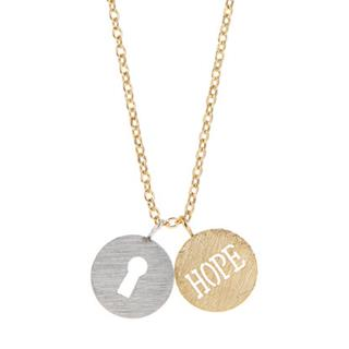 Gold Hope Key Necklace