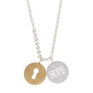 Sterling Silver Hope Key Necklace