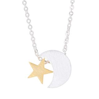 Sterling Silver Moon & Stars Necklace