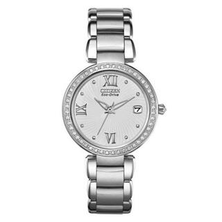 Citizen Ladies Eco-Drive Diamond Accent Stainless Steel Bracelet Watch #500-54