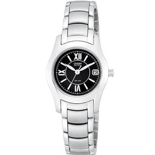 Citizen Ladies Watch Stainless Steel Eco-Drive 180 Black Dial #500-3
