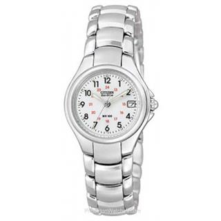 Citizen Ladies Watch Eco-Drive Stainless Steel Silhouette White Dial #500-6