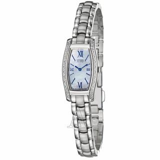 Citizen Ladies Watch Silhouette Eco-Drive Diamond Mother of Pearl Dial #500-11