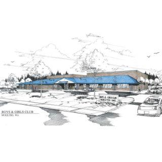 Drawing of the future Mukilteo Boys & Girls Club in the Harbour Pointe area.​