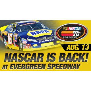NASCAR K&N Pro Series West Race on August 13th at 5:30 PM