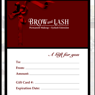 Brow and Lash Gift Cards