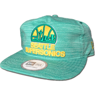 Seattle Supersonics Heathered Green Adjustable Hat
