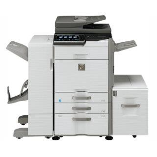 Sharp MX-2640n w/ cabinet, fax, center exit tray