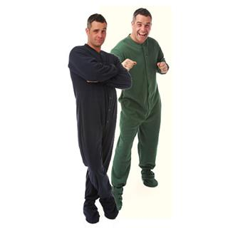2 Pair Set Men or Womens Unisex Fleece Footed Pajamas