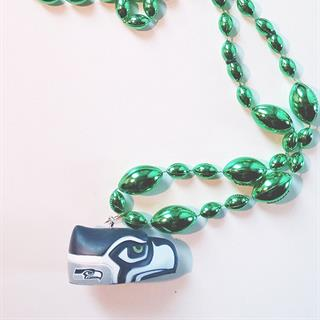 Seahawks Fan Beads