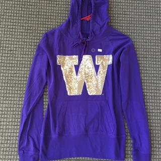 Ladies Purple Hoodie Size Medium
