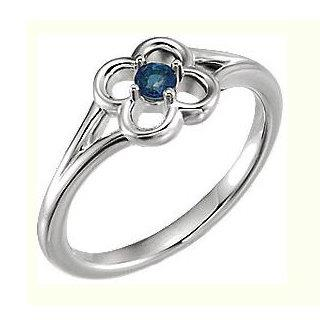 14 kt White Gold Ring with Sapphire Diamond