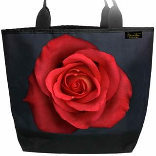 Large Red Rose Shopper Tote Bag