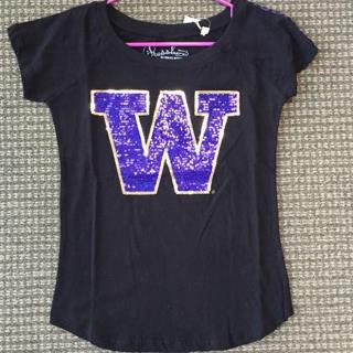 UW Ladies Black tee Size XLarge