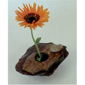 Small Natural Rock Ikebana Flower Vases - as seen on QVC