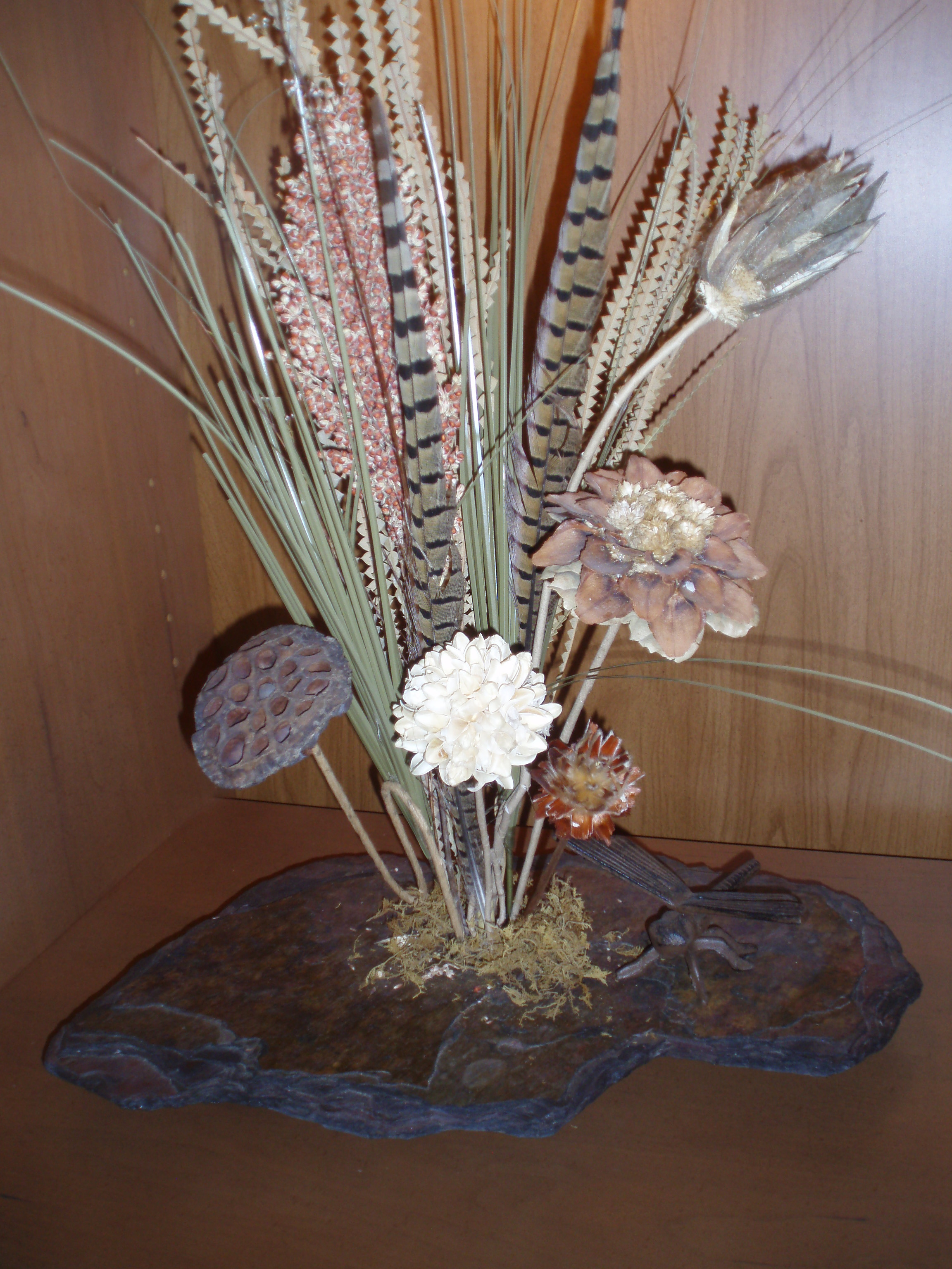 Large Natural Rock Ikebana Flower Vase - as seen on QVC