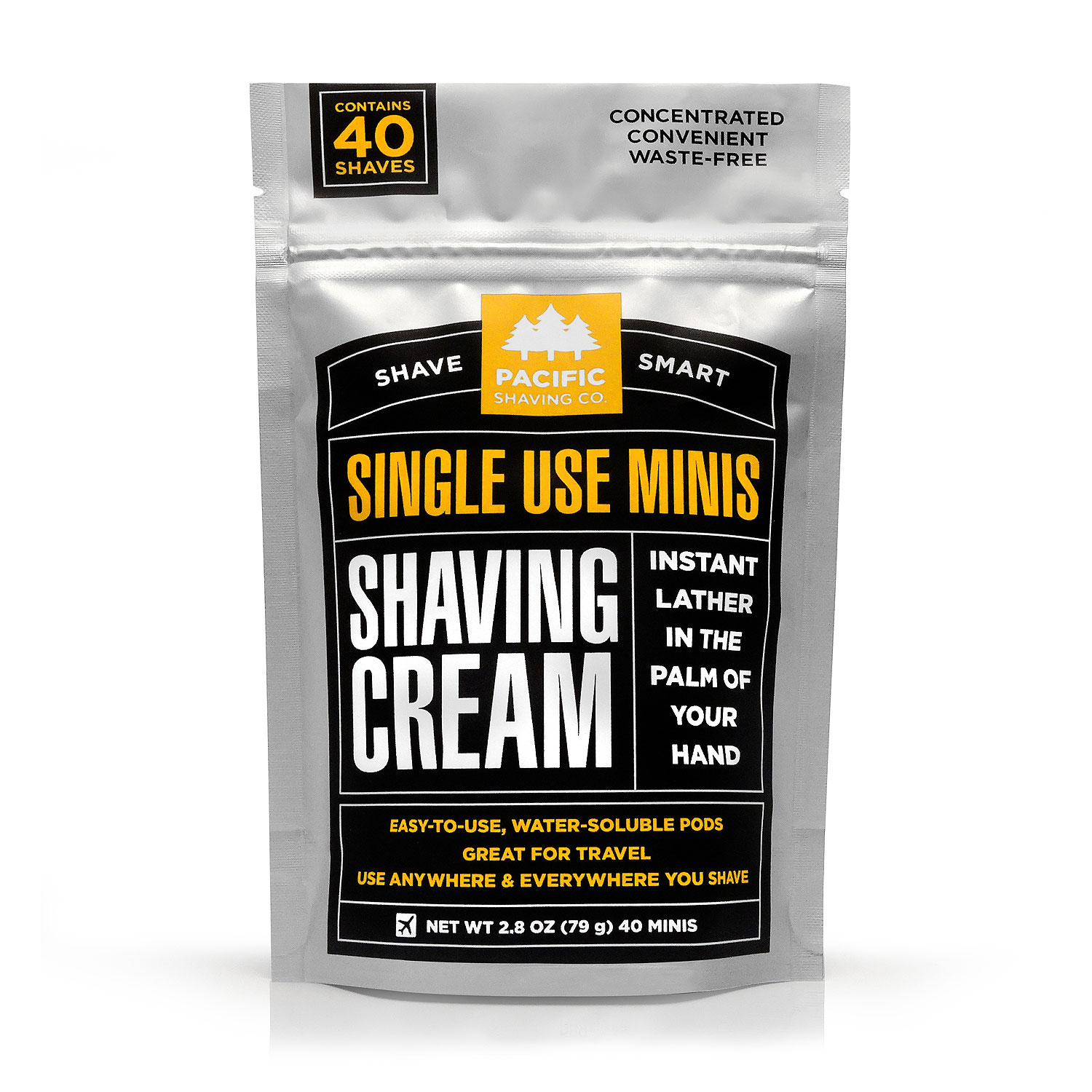 24-Unit Case: Single-Use Shaving Cream Minis