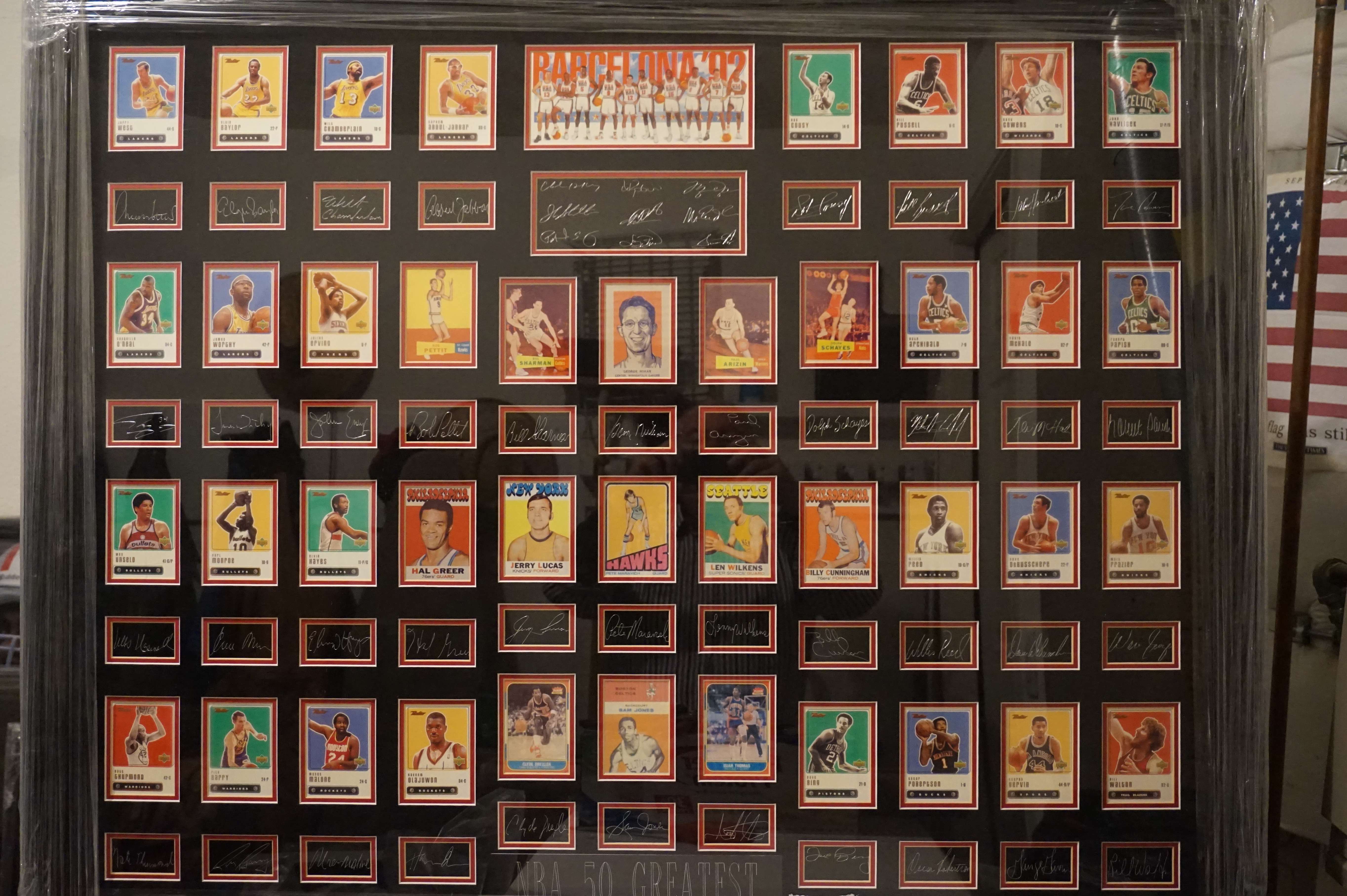 50 Greatest NBA Players' Cards