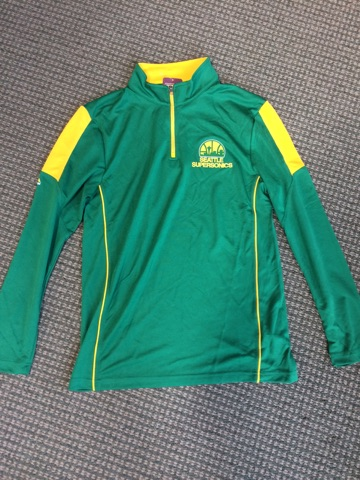 Sonics 1/4 Zip Size Medium