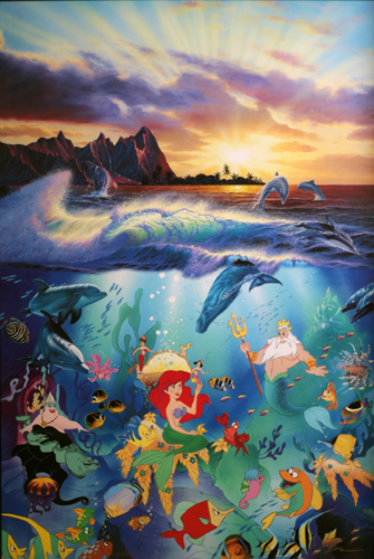 Disney Painting by Christian Lassen