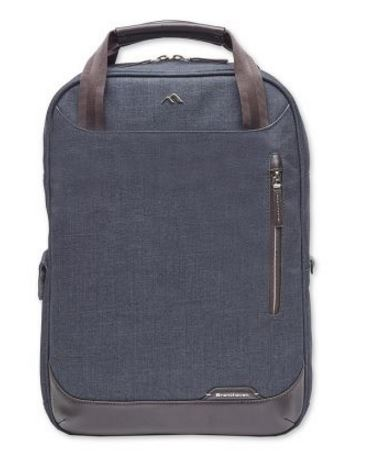Collins Convertible Backpack - indigo chambray