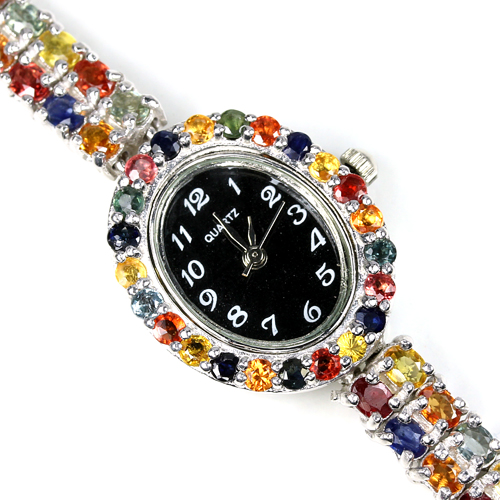 Ladies Sapphire Encrusted Watch
