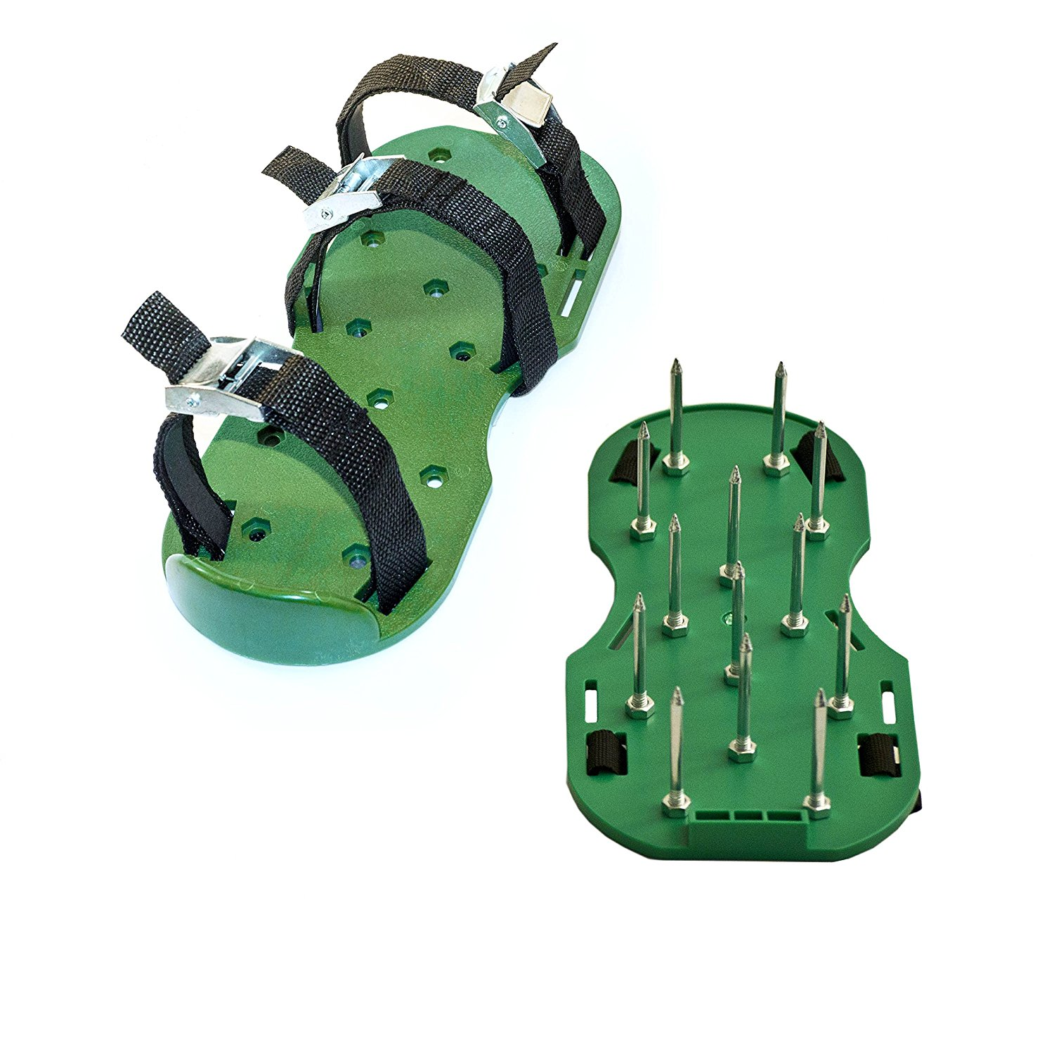Lawn Garden Sharp Aerating Spike Shoes, Green Color