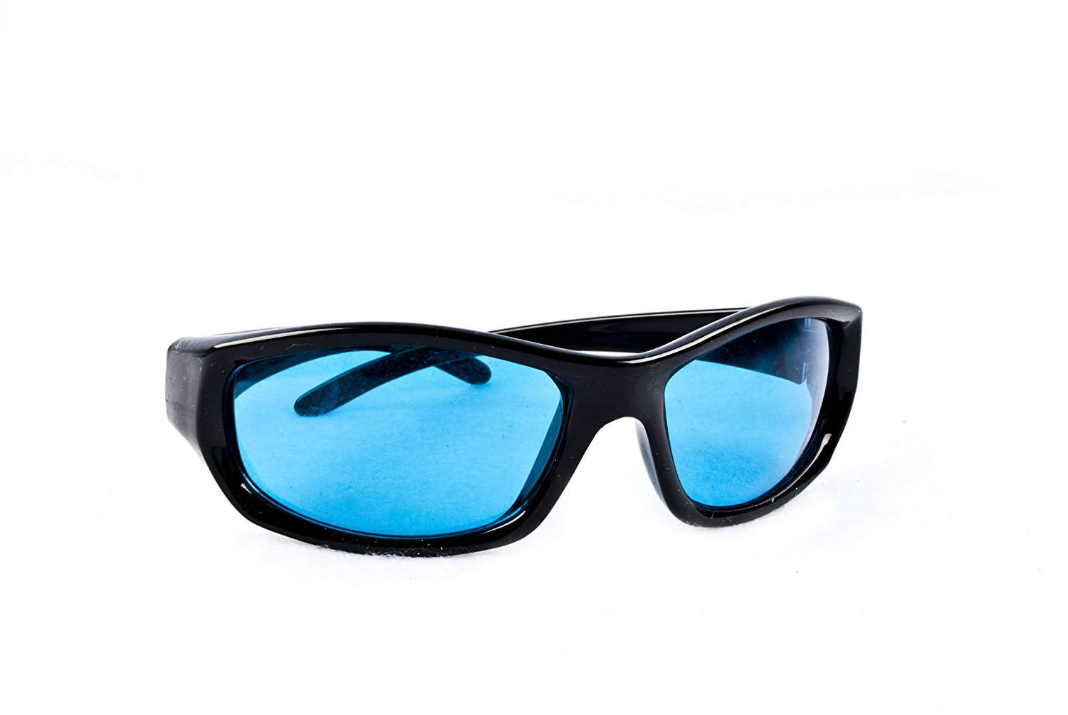 Force Military Ballistic Safety Glasses Black Frame Blue Diamond Lens