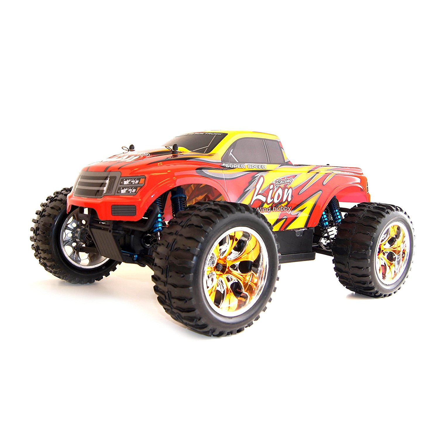 4WD Brushless Electric Powered High Speed Off-Road RC PRO Monster Truck, Red 1/1