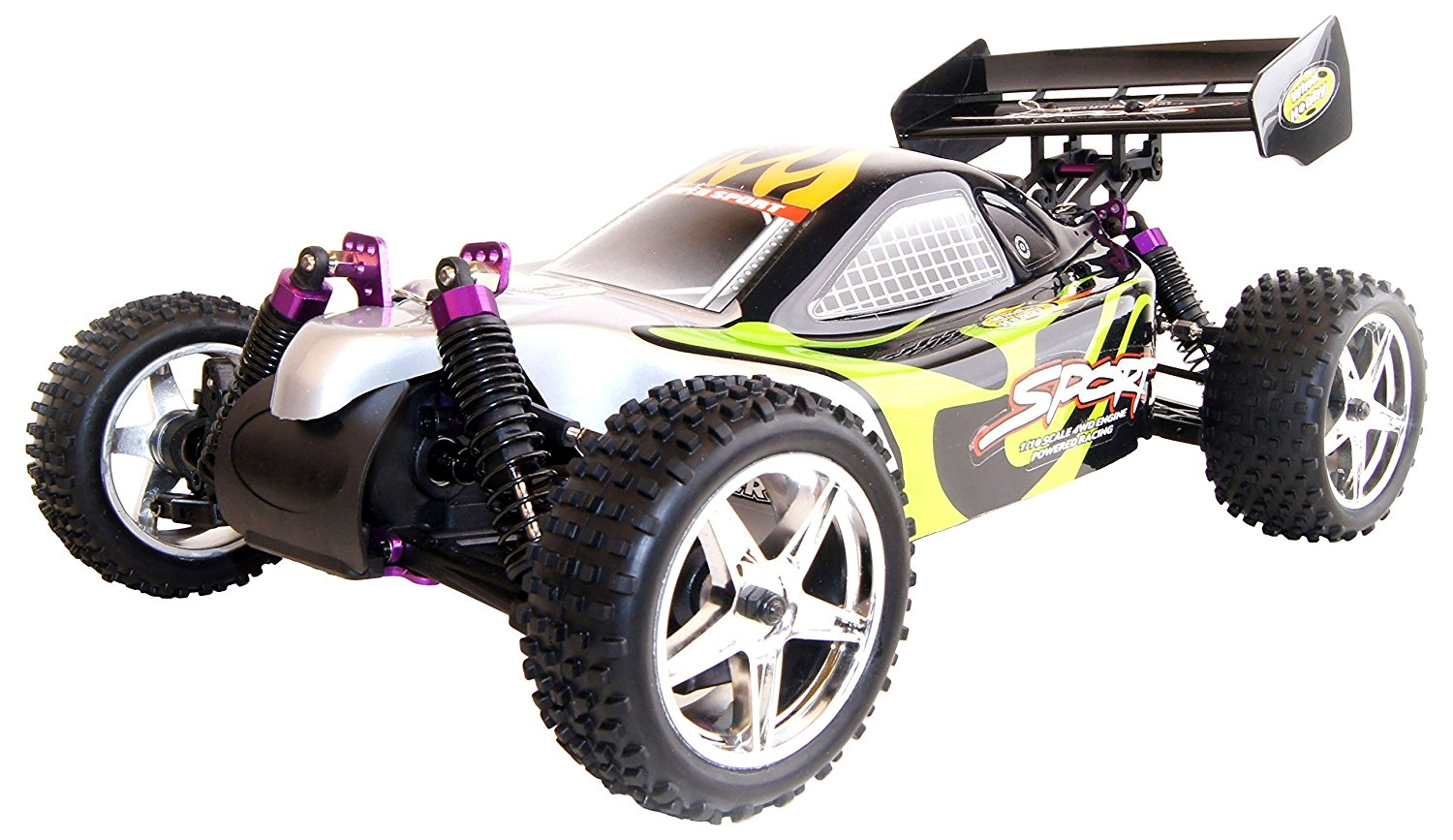 4WD High Speed Nitro Powered Off Road Racing Buggy Vertex 18 CXP, Green 1/10