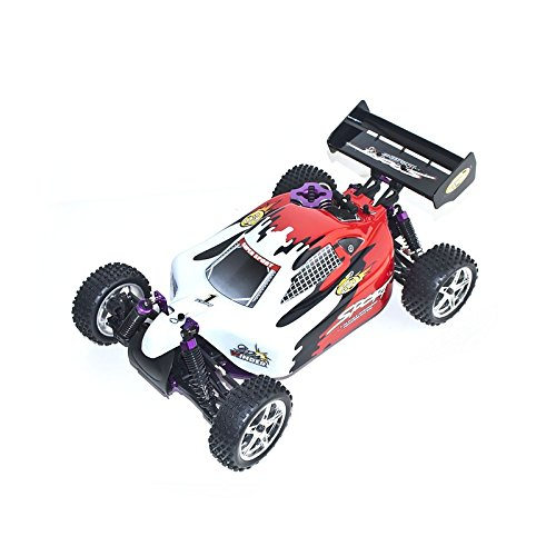 4WD High Speed Nitro Powered Off Road Racing Buggy Vertex 18 CXP, Red 1/10 Scale