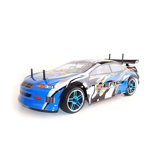 4WD Nitro Powered High Speed On Road Racing Car Vertex 18 CXP, Blue 1/10 Scale