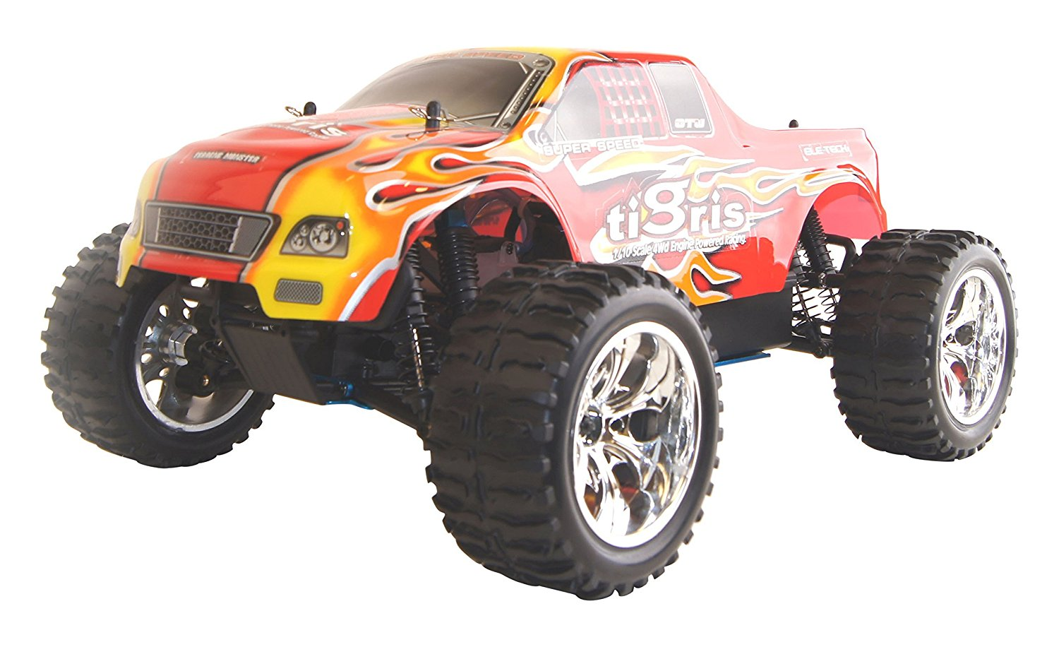 4WD Vertex 18 CXP Nitro Powered High Speed Off Road Monster Truck, Red 1/10