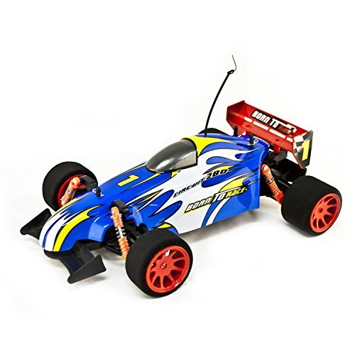 Ni-Cd Battery Powered On Road RC Toy Formula Car, Blue 1/10 Scale
