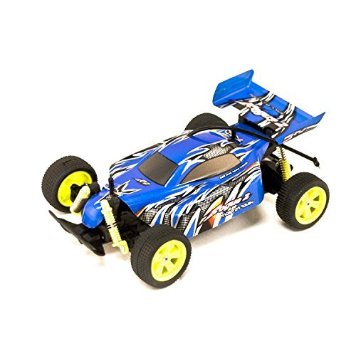 Battery Powered Off-Road RC Toy Buggy, Blue 1/18 Scale