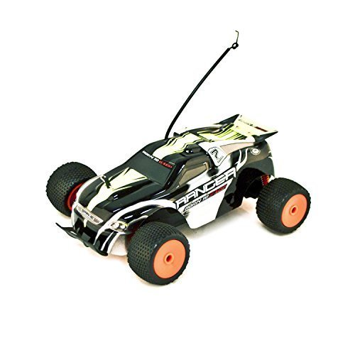 Battery Powered Off-Road RC Toy Truggy, Black 1/18 Scale