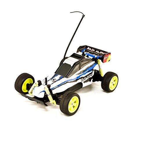 Battery Powered Off-Road RC Toy Buggy, White 1/18 Scale